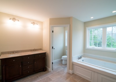 master bathroom construction